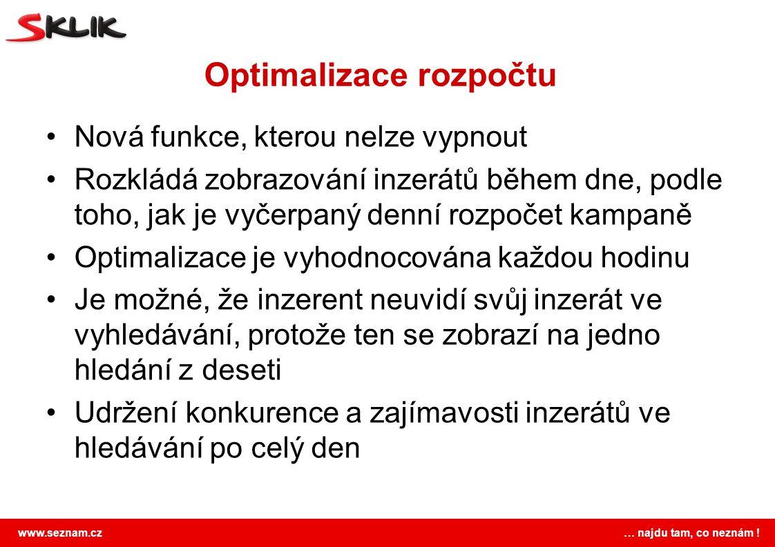 Optimalizace rozpočtu