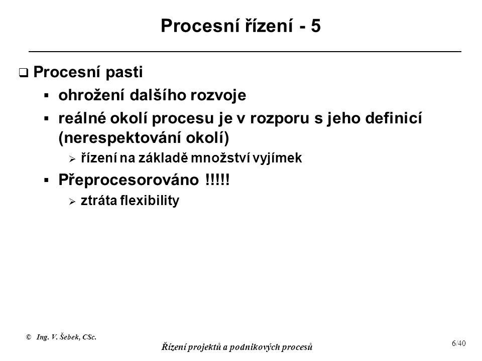 Procesní řízení - 5 Procesní pasti ohrožení dalšího rozvoje