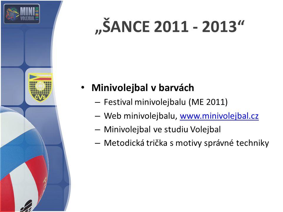 """""""ŠANCE 2011 - 2013 Minivolejbal v barvách"""