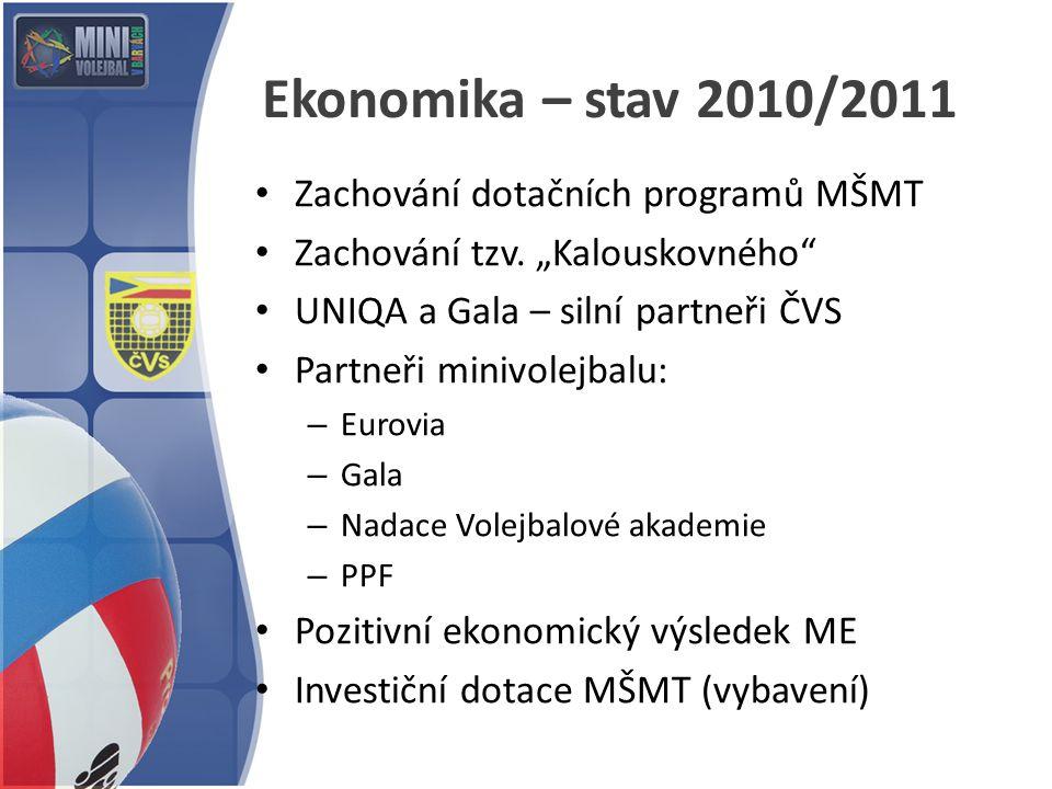 Ekonomika – stav 2010/2011 Zachování dotačních programů MŠMT