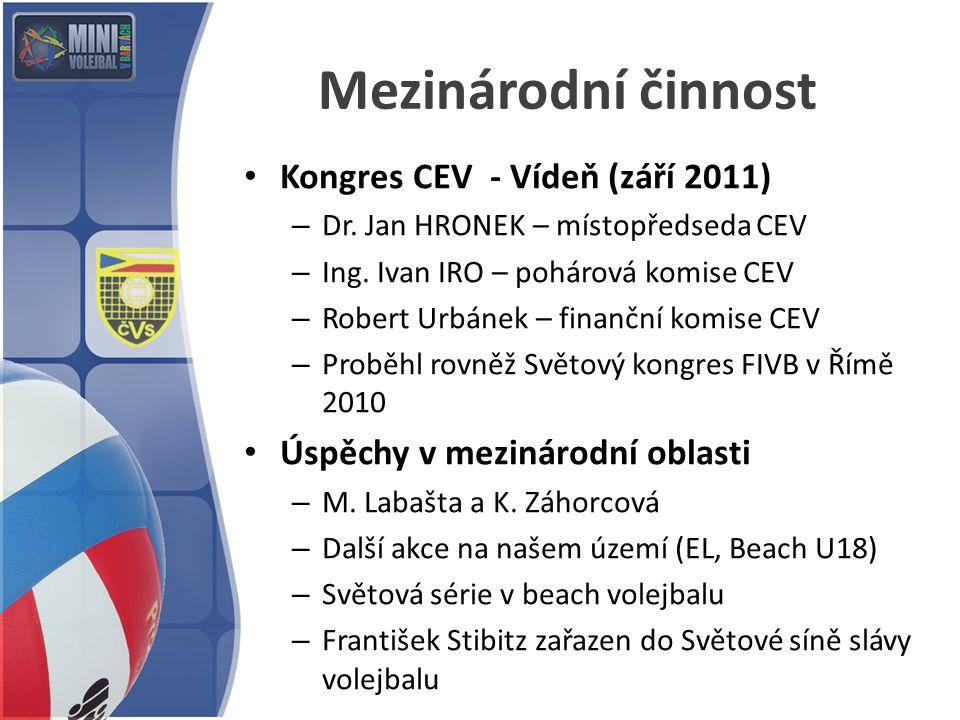 Mezinárodní činnost Kongres CEV - Vídeň (září 2011)