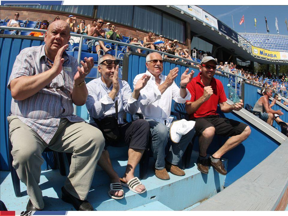 Beach na Štvanici Turnaj světové série navštívil 2x po sobě pan prezident Václav Klaus