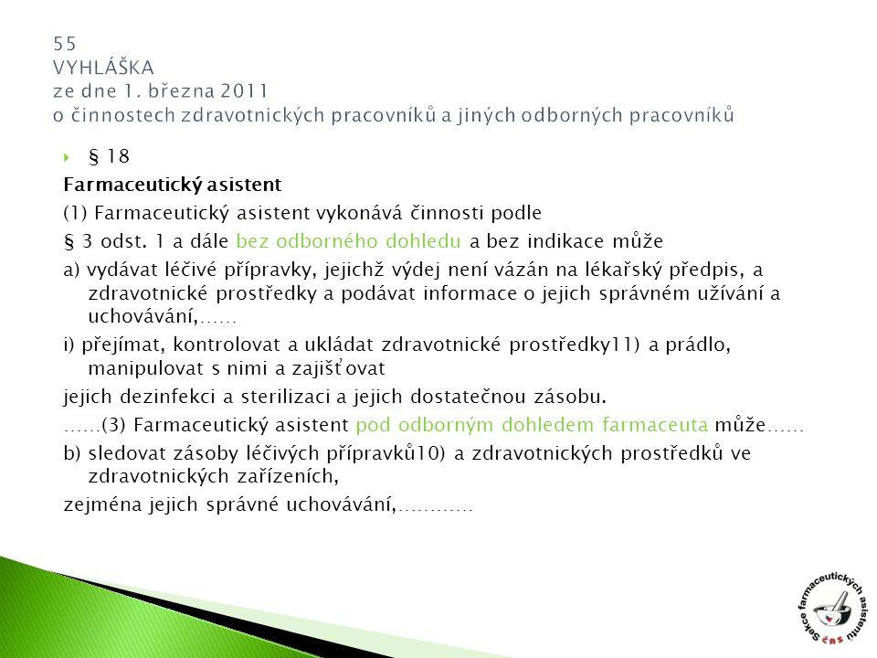 55 VYHLÁŠKA ze dne 1. března 2011 o činnostech zdravotnických pracovníků a jiných odborných pracovníků