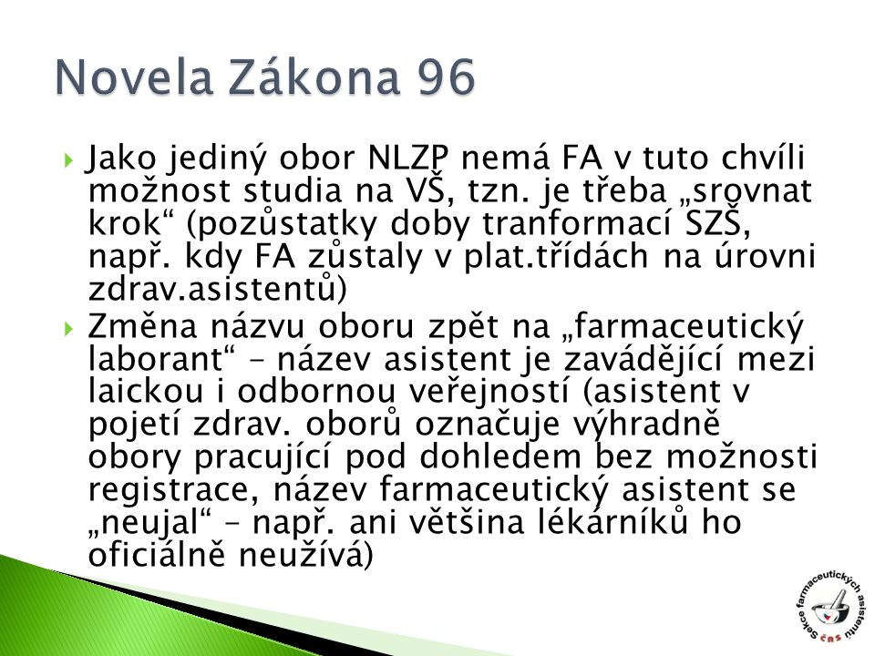 Novela Zákona 96