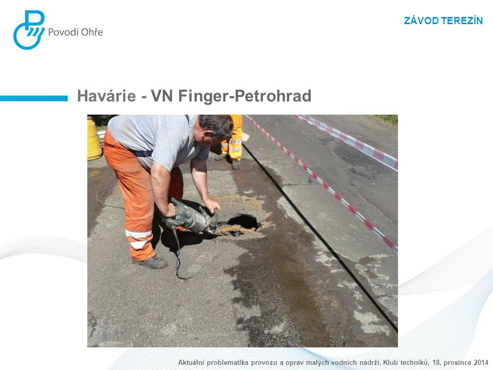 Havárie - VN Finger-Petrohrad