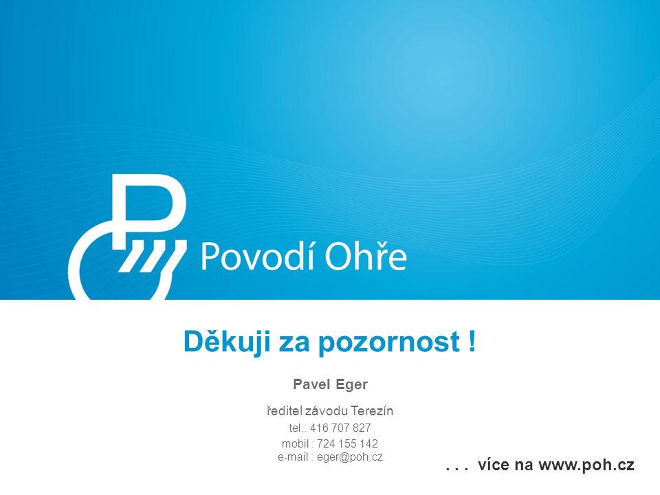 Děkuji za pozornost ! . . . více na www.poh.cz Pavel Eger