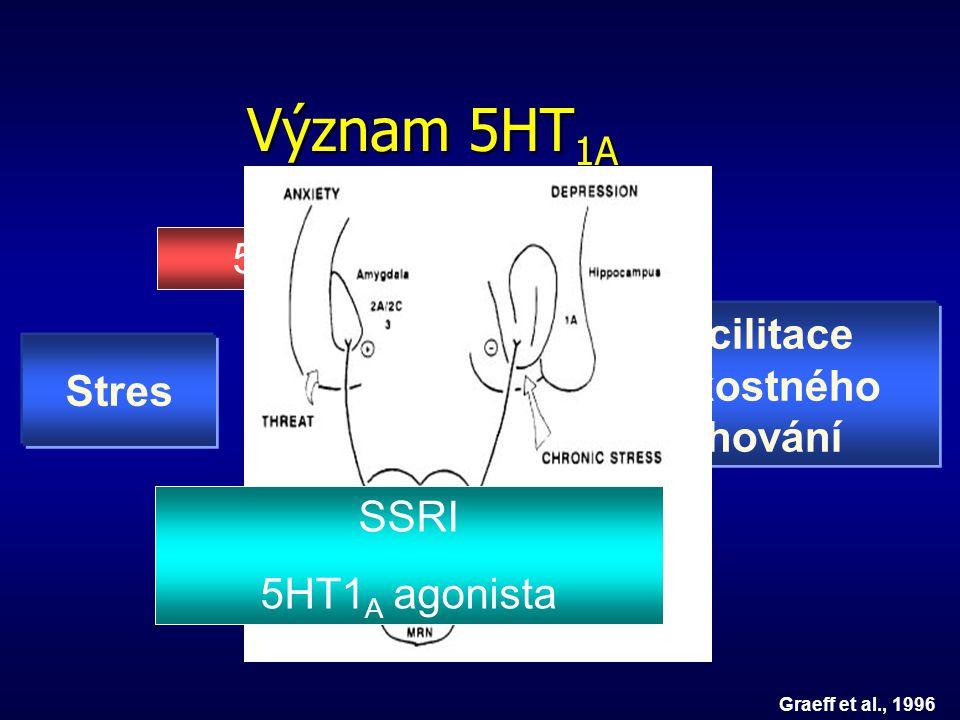 Význam 5HT1A 5HT1A antagonista Facilitace úzkostného Stres chování