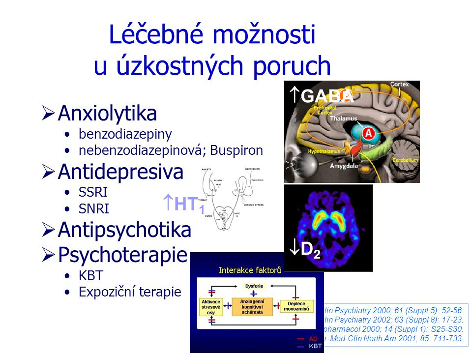 Léčebné možnosti u úzkostných poruch
