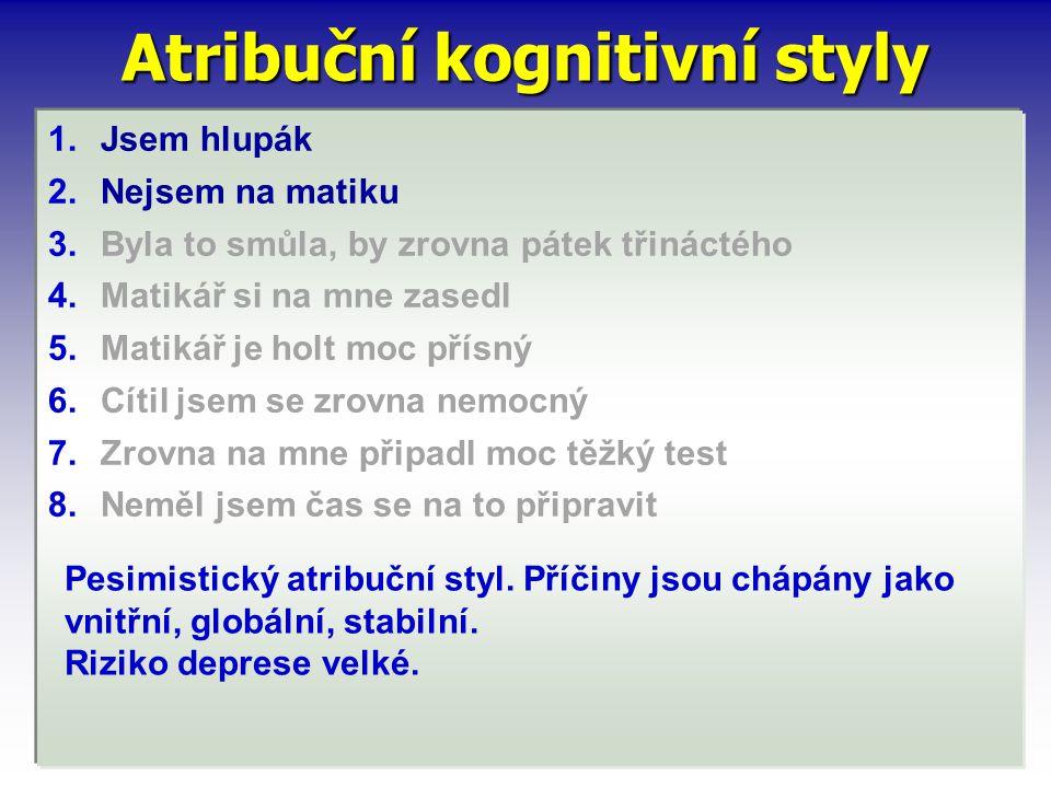 Atribuční kognitivní styly