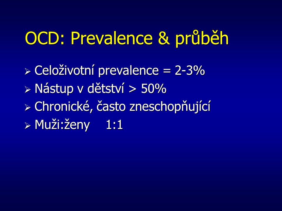 OCD: Prevalence & průběh
