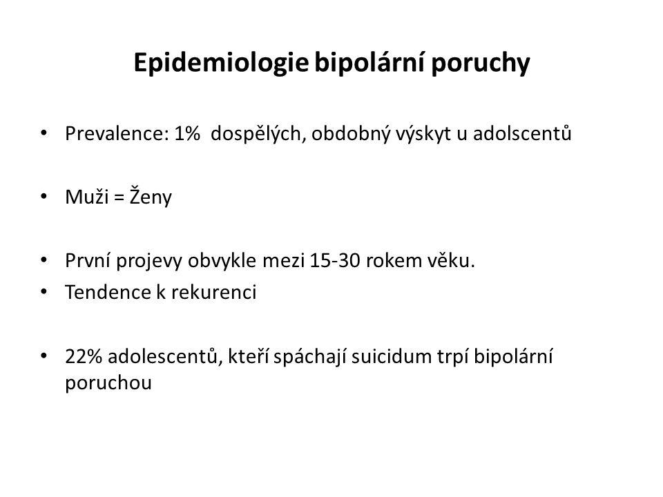 Epidemiologie bipolární poruchy