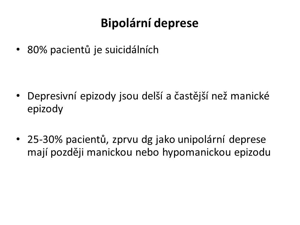 Bipolární deprese 80% pacientů je suicidálních