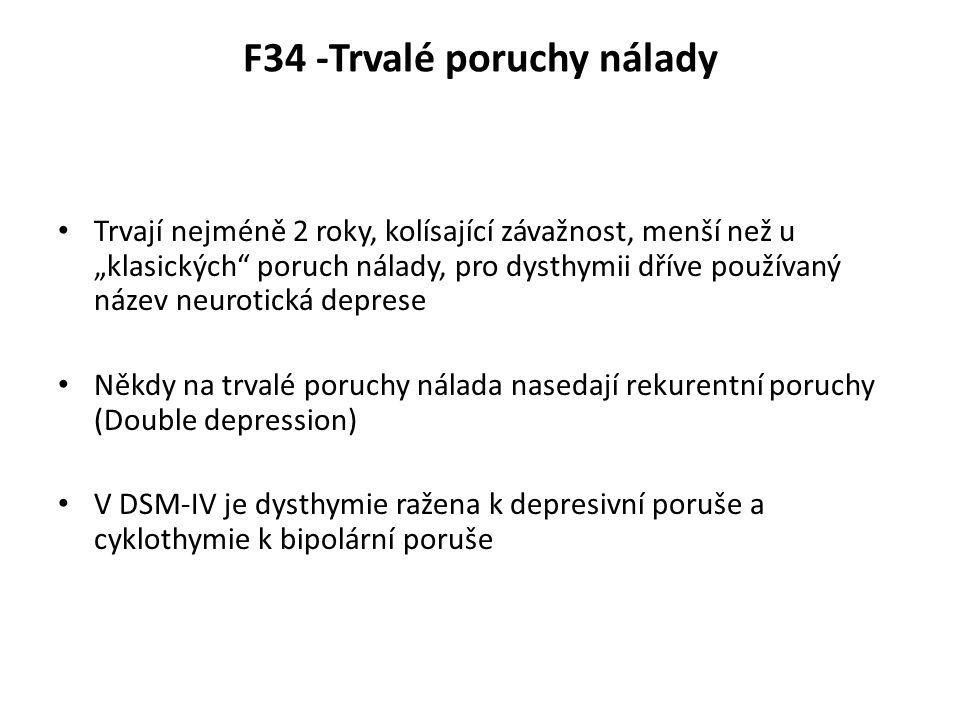 F34 -Trvalé poruchy nálady