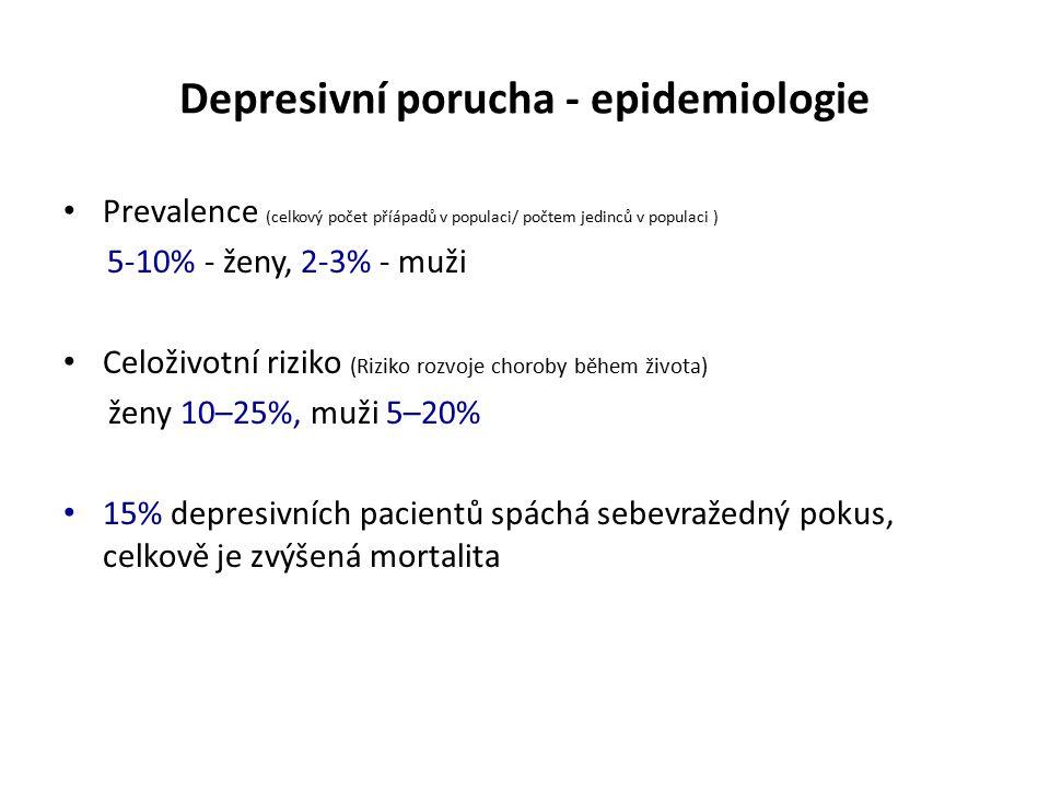 Depresivní porucha - epidemiologie