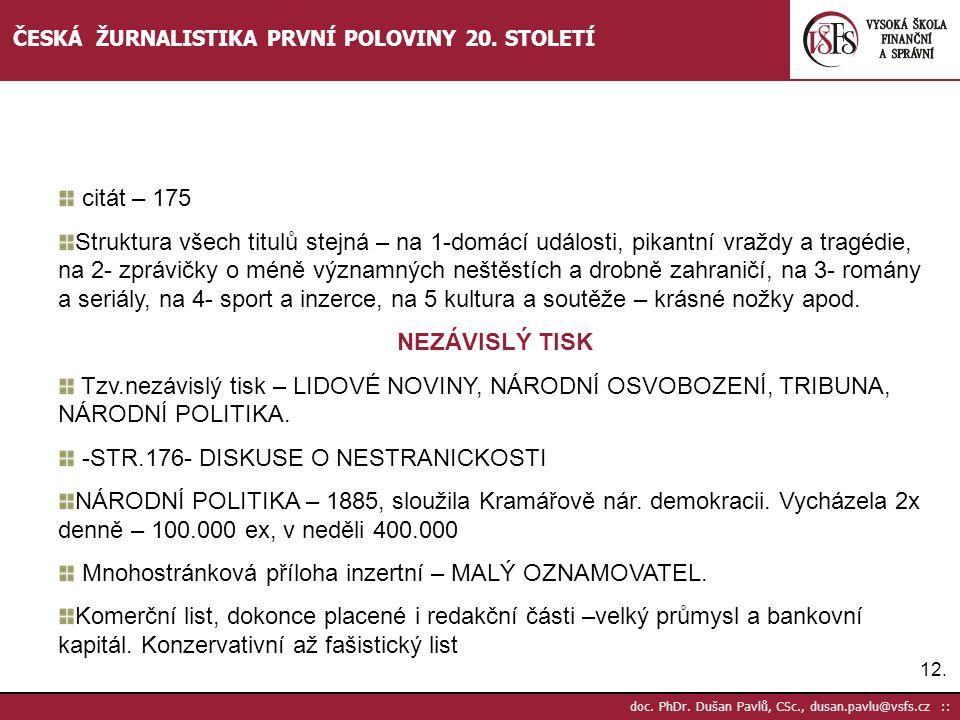 -STR.176- DISKUSE O NESTRANICKOSTI