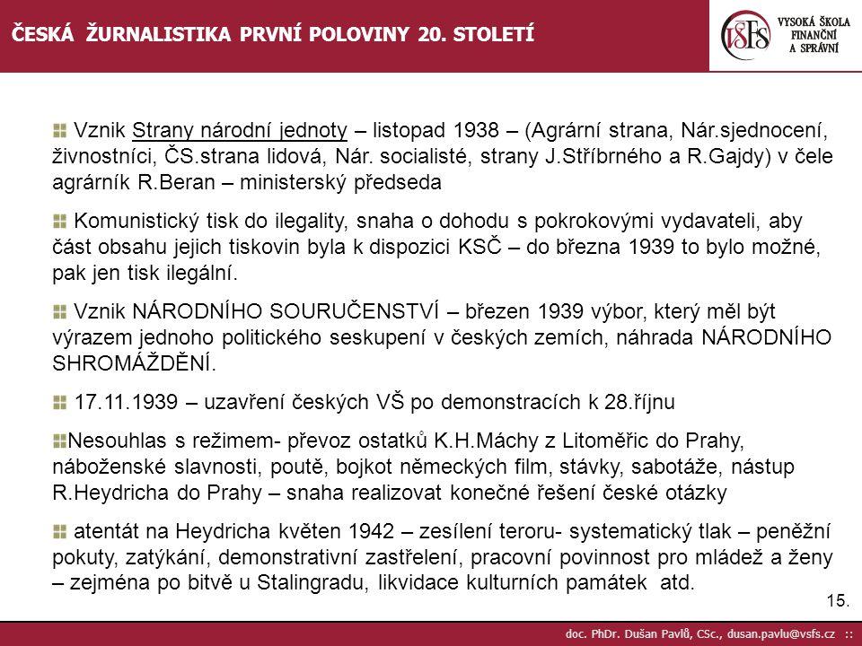 17.11.1939 – uzavření českých VŠ po demonstracích k 28.říjnu