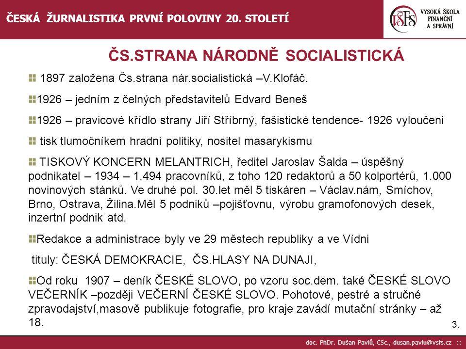 ČS.STRANA NÁRODNĚ SOCIALISTICKÁ