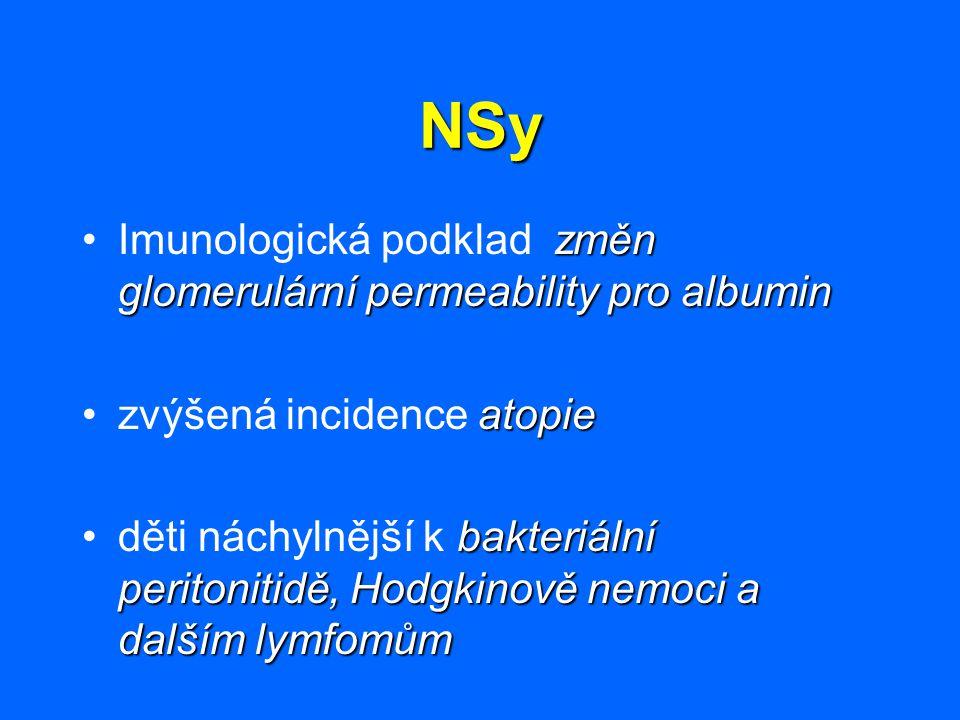 NSy Imunologická podklad změn glomerulární permeability pro albumin