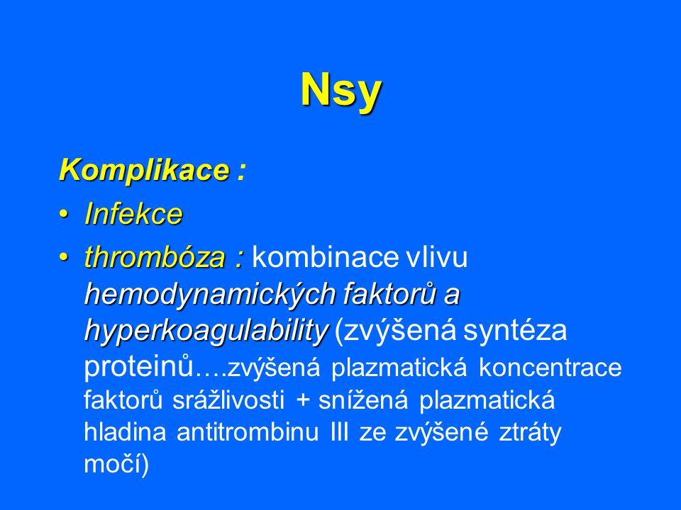 Nsy Komplikace : Infekce