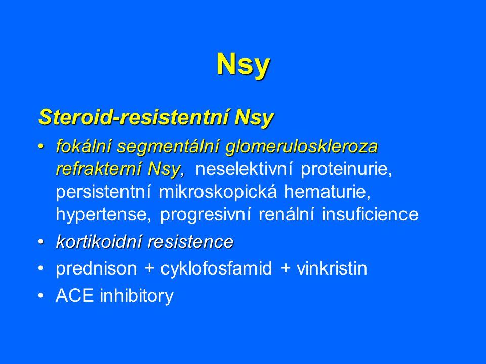 Nsy Steroid-resistentní Nsy