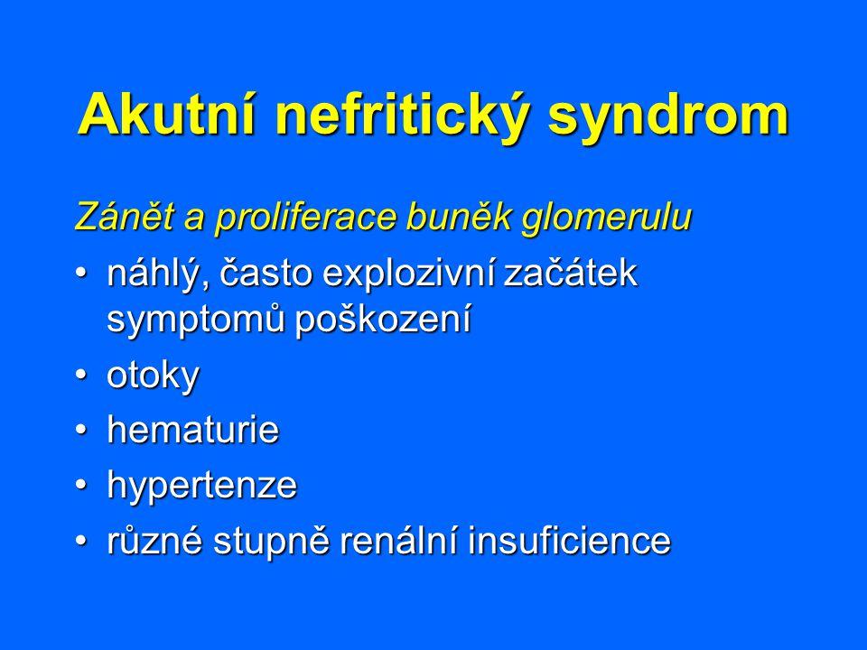 Akutní nefritický syndrom