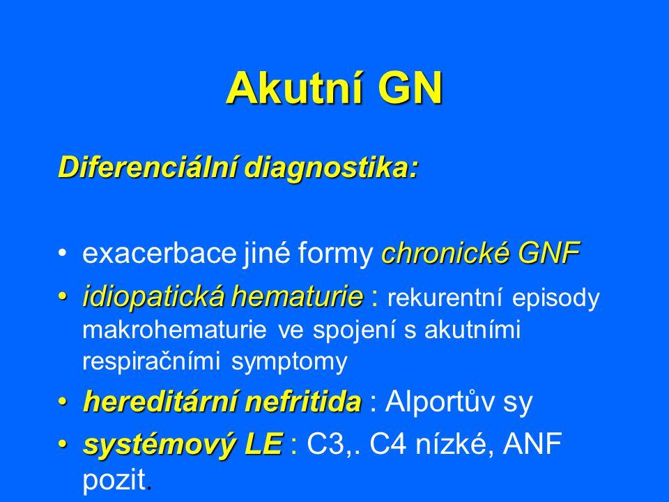 Akutní GN Diferenciální diagnostika: