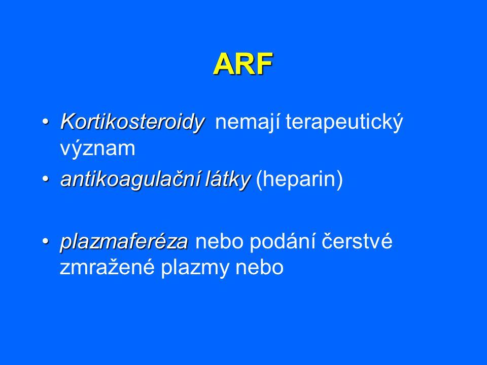 ARF Kortikosteroidy nemají terapeutický význam