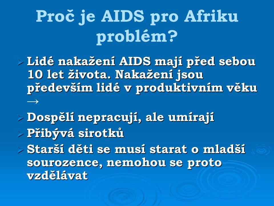 Proč je AIDS pro Afriku problém