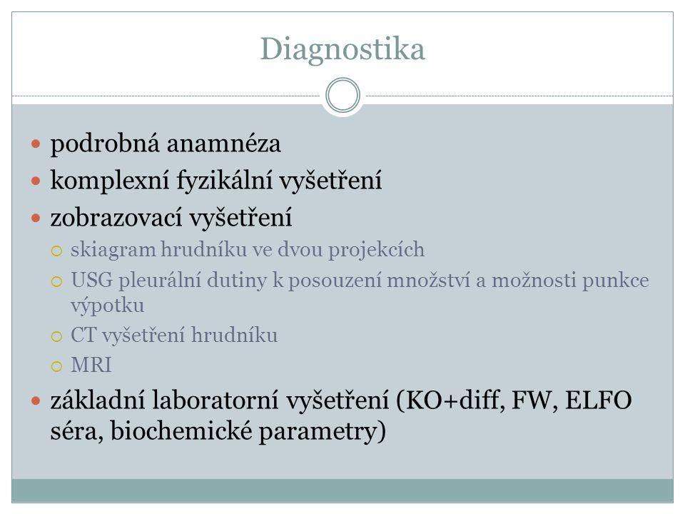 Diagnostika podrobná anamnéza komplexní fyzikální vyšetření