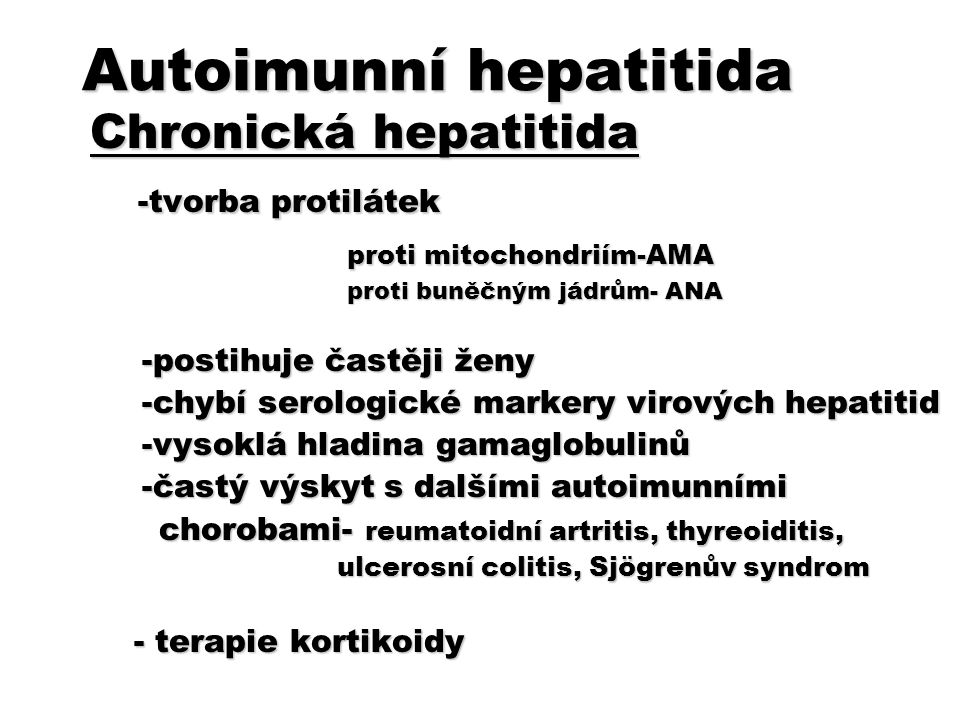Autoimunní hepatitida