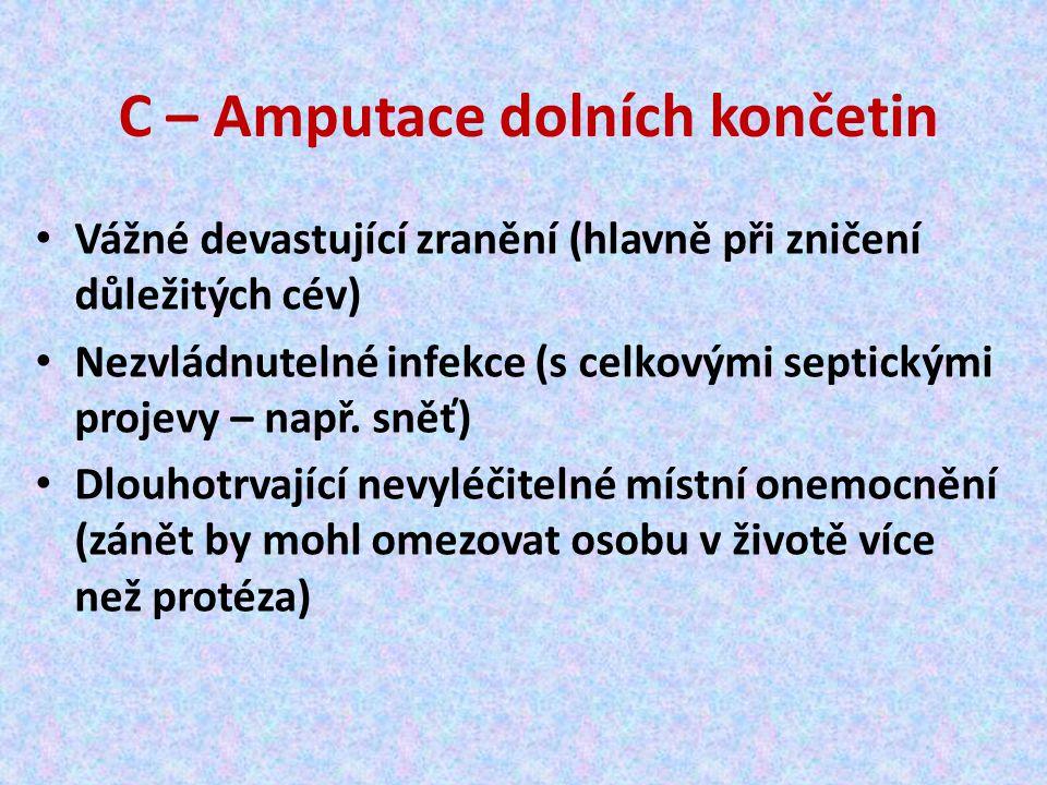 C – Amputace dolních končetin