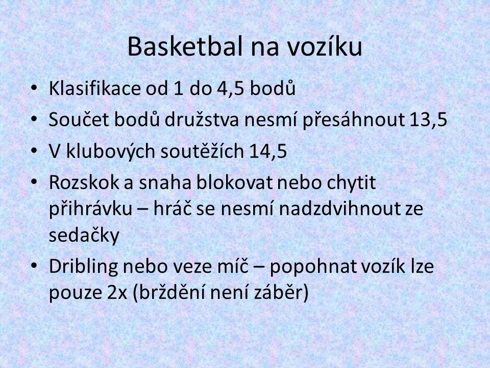 Basketbal na vozíku Klasifikace od 1 do 4,5 bodů