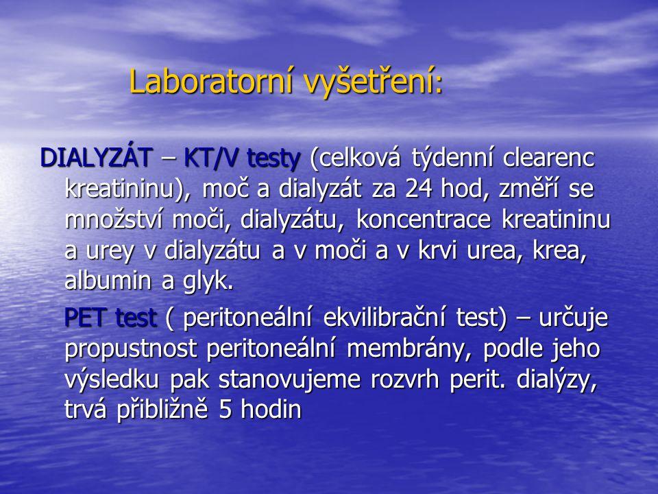 Laboratorní vyšetření: