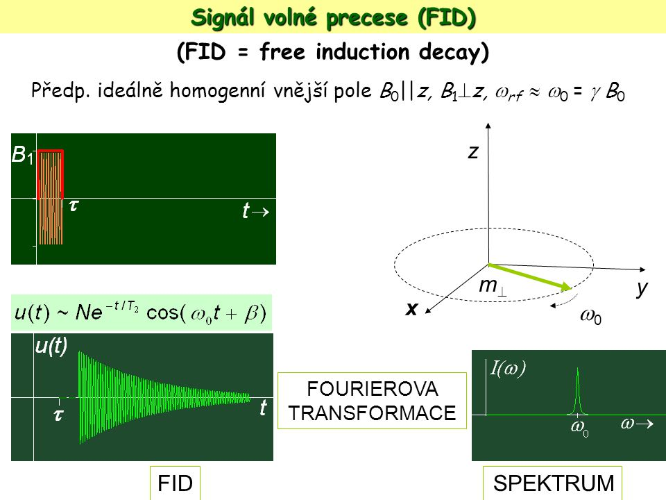 Signál volné precese (FID) (FID = free induction decay)