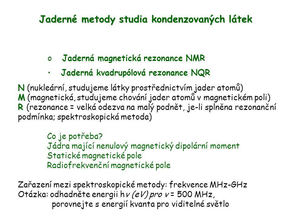 Jaderné metody studia kondenzovaných látek