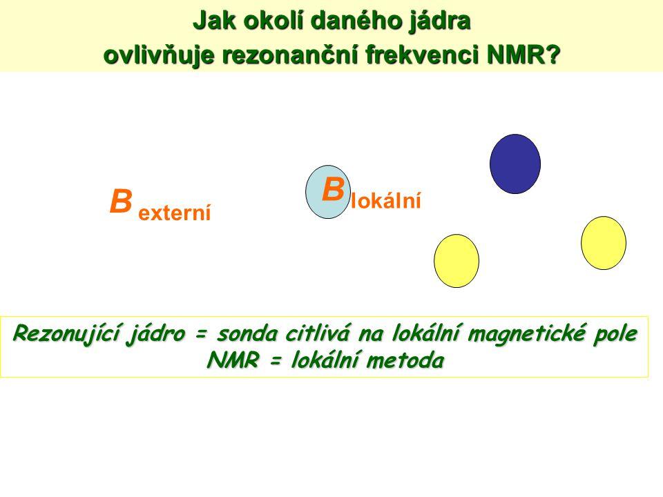 B lokální B externí Jak okolí daného jádra