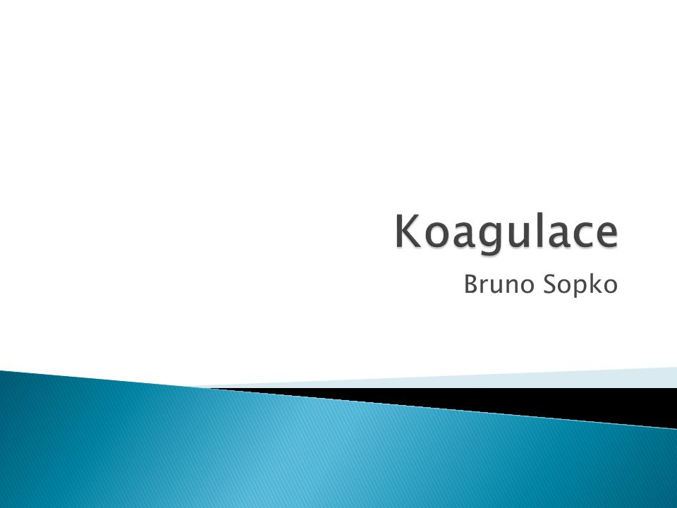 Koagulace Bruno Sopko