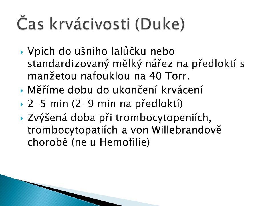 Čas krvácivosti (Duke)