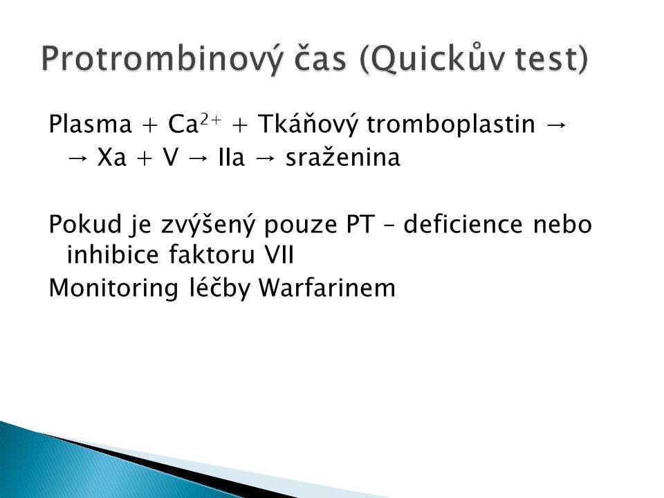 Protrombinový čas (Quickův test)