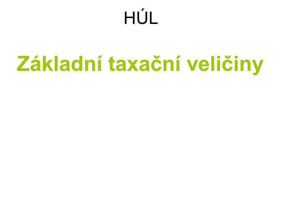 Základní taxační veličiny