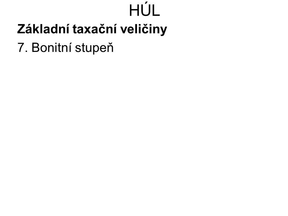 HÚL Základní taxační veličiny 7. Bonitní stupeň