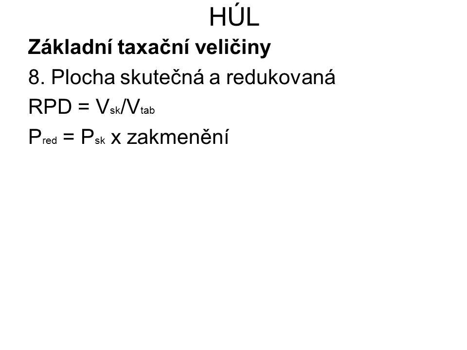 HÚL Základní taxační veličiny 8. Plocha skutečná a redukovaná
