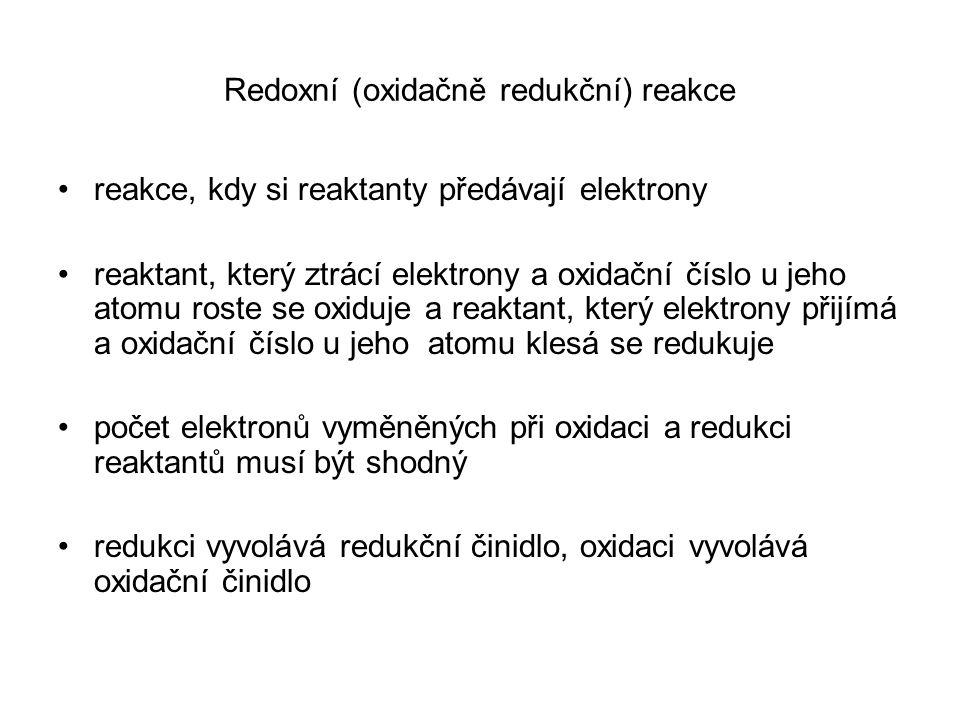 Redoxní (oxidačně redukční) reakce