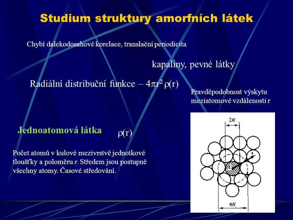 Studium struktury amorfních látek