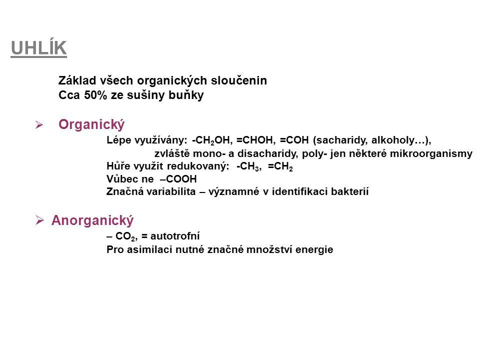 UHLÍK Anorganický Základ všech organických sloučenin