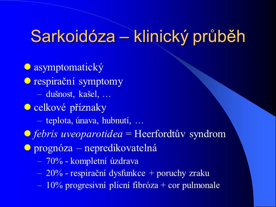 Sarkoidóza – klinický průběh