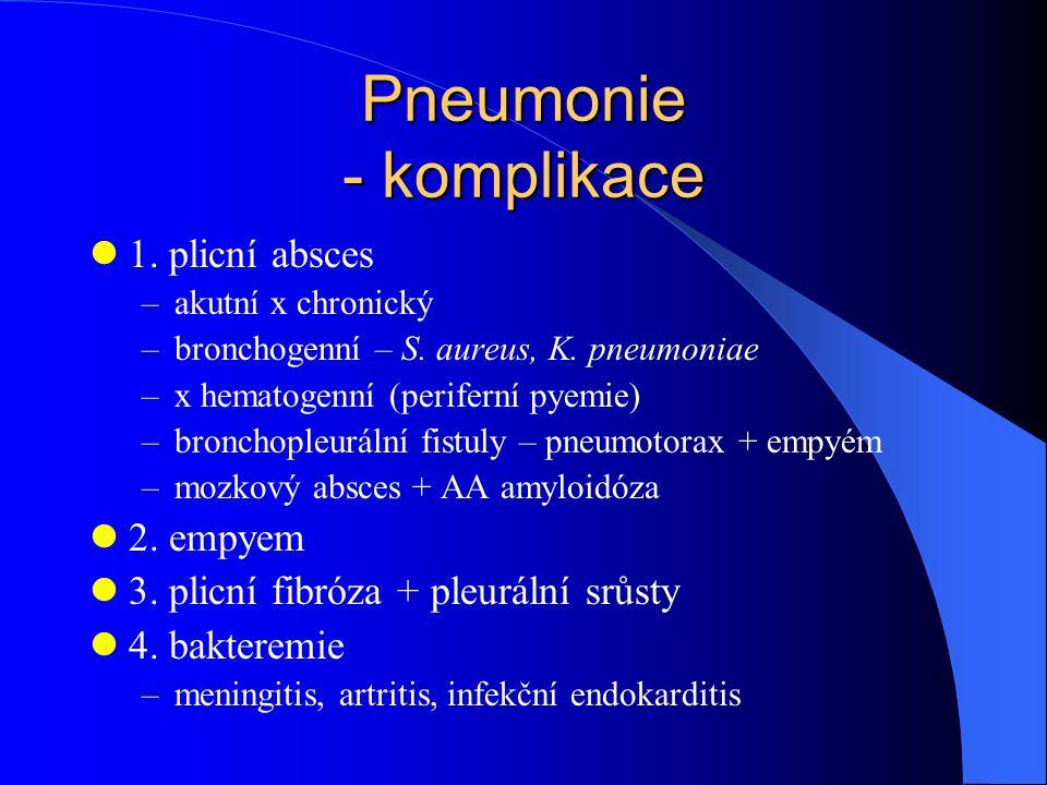 Pneumonie - komplikace