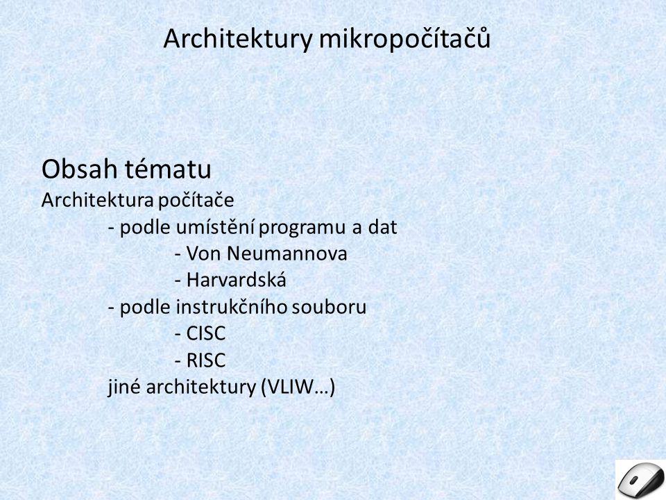 Architektury mikropočítačů