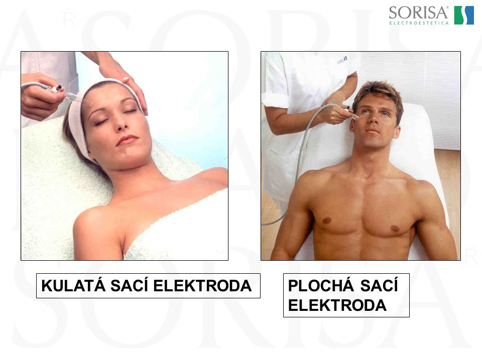 KULATÁ SACÍ ELEKTRODA PLOCHÁ SACÍ ELEKTRODA