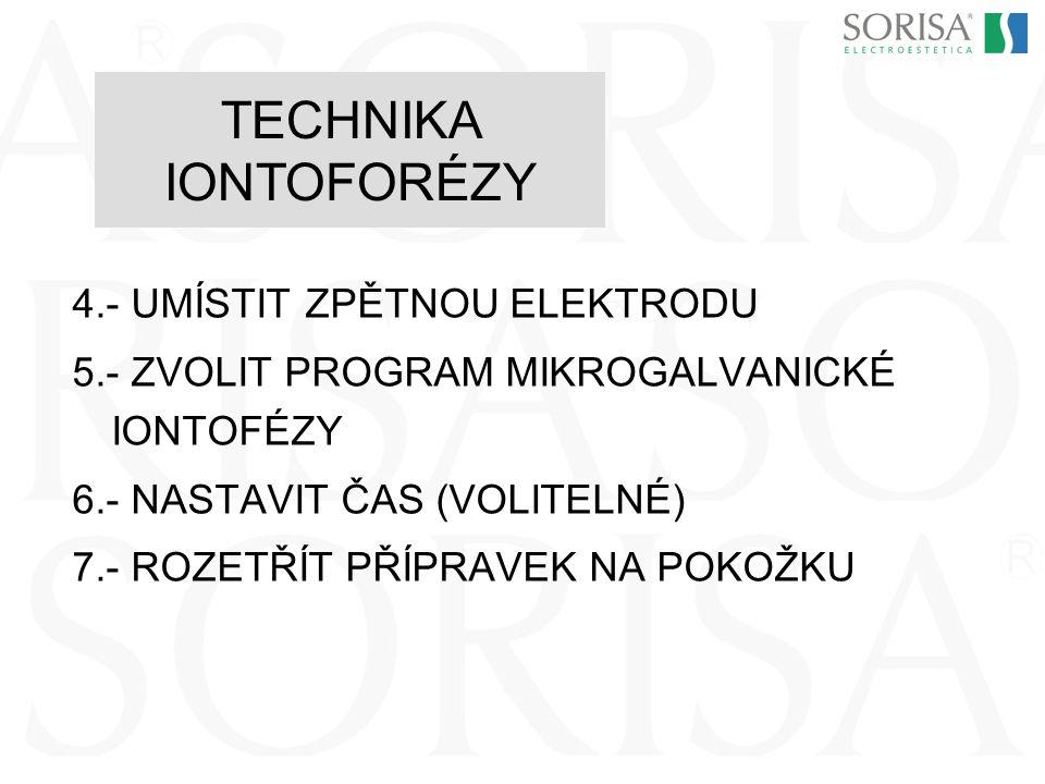 TECHNIKA IONTOFORÉZY 4.- UMÍSTIT ZPĚTNOU ELEKTRODU